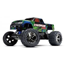 Traxxas Stampede 2WD VXL 1/10 Scale Monster Truck No Battery/Charger Green