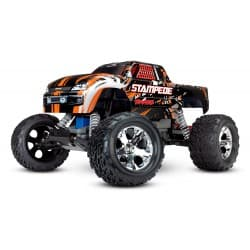 Traxxas Stampede 2WD RTR w/XL-5 ESC Monster Truck (with battery & charger) - Orange