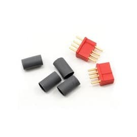 Deans Micro Plug 4R Red Polarized Connector