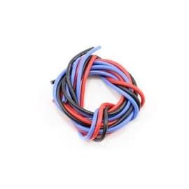 Novak 14awg Silicone Super-Flex Power Wire Set (Black/Red/Blue) (3')