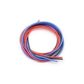 Novak 16awg Silicone Super-Flex Power Wire Set (Black/Red/Blue) (3')