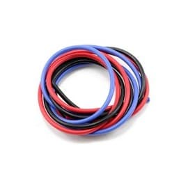 Muchmore Racing 16awg Silver Wire Set (Blue/Black/Red) (180cm)