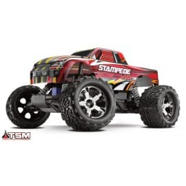 Traxxas Stampede 2WD VXL with TSM RTR Monster Truck Red