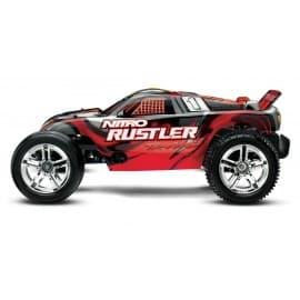 Traxxas Nitro Rustler 1/10 Scale 2WD Stadium Truck Silver/Red