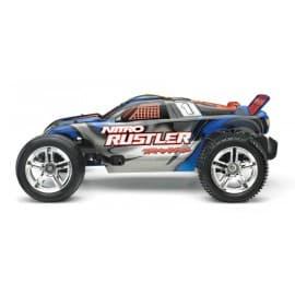 Traxxas Nitro Rustler 1/10 Scale 2WD Stadium Truck Silver/Blue
