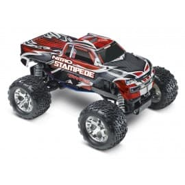 Traxxas Nitro Stampede 1/10 Scale 2WD Monster Truck Silver/Red