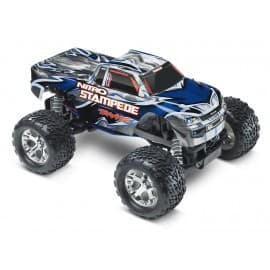 Traxxas Nitro Stampede 1/10 Scale 2WD Monster Truck Blue