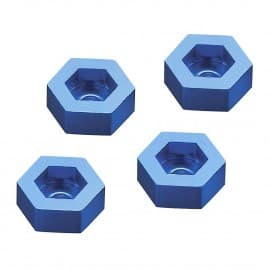 Dromida Aluminum Wheel Adapter To 12mm Hex Blue (4)