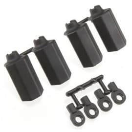SHOCK SHAFT GUARDS FOR TRAXXAS 1/10 SCALE SHOCKS - BLACK (4)