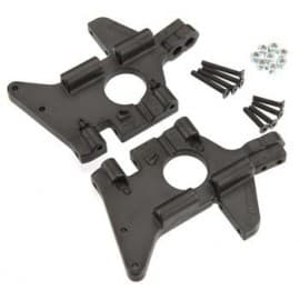 BLACK FRONT BULKHEADS (FITS ALL VERSIONS OF THE T-MAXX & E-MAXX LINE OF TRUCKS)