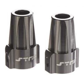 alum axle lock axial SCX10 gun metal