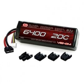 3S 2P 11.1V 6400mAh 20C LiPo Univ Plug System
