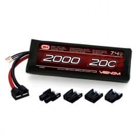 LiPo 2S 1P 7.4V 2000mAh 20C Univ Plug System