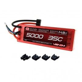 LiPo 4S 14.8V 5000mAh 35C Hard Univ Plug System