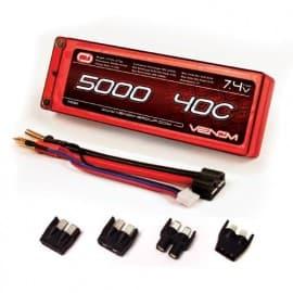 LiPo 2S 7.4V 5000mah 40C Hard Univ Plug