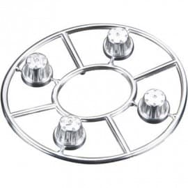 hub cover satin chrome 4pcs