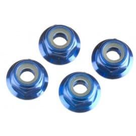 Traxxas Nuts Flanged Nylon Locking 4mm Blue (4)