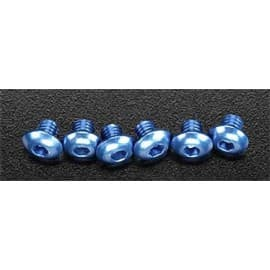 Traxxas Button Head Screw 4x4 Aluminum Blue Jato (6)