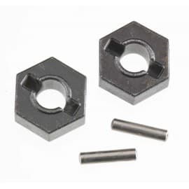 Hex wheel hubs w/pins (2)