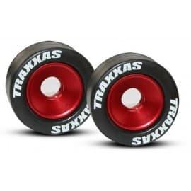 Aluminum wheelie bar wheels (red)