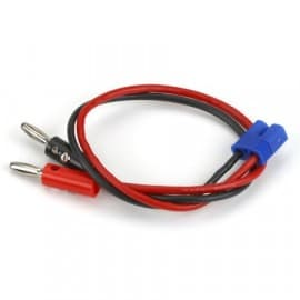 """EC3 Charge Lead with 12"""" Wire & Jacks"""