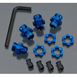 Wheel Hub Set 17mm Short(2) Long(2) Blu Slash 2WD