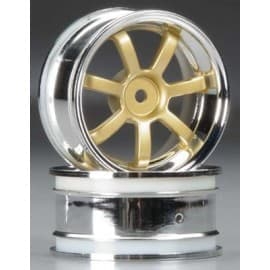 HPI Racing Rays Gram Lghts 57S-PRO Chrome/Gold 3mm Offset