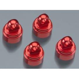 Shock caps aluminum RED