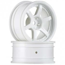 HPI Racing HRE C106 Wheel 26mm White 6mm Offset E10