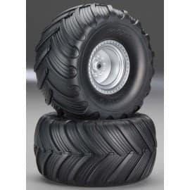 Traxxas Tires/Wheels Assembled Glued Monster Jam (2)