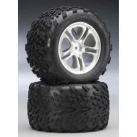 "Traxxas Talon 3.8"" Tires On 5-Spoke T-Maxx/Revo (2)"
