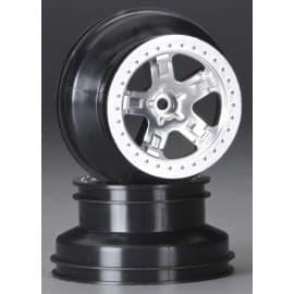 Traxxas Rear Wheel Satin Chrome Slash (2)