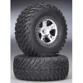 Traxxas Tires/Wheels Assembled Front Slash (2)