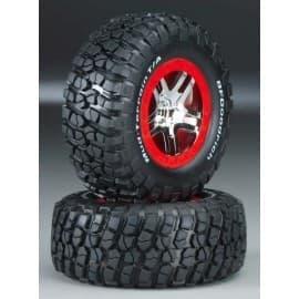 Tire/Wheel Assembly Glued Slash 2WD (2)