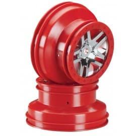 Traxxas SCT Front/Rear Split-Spoke Wheel Red (2)