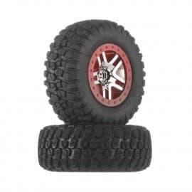 Traxxas BFGoodrich T/A KM2 Tires/SCT Red Wheels (2)