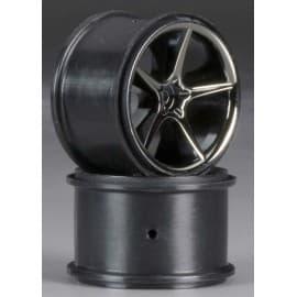 Traxxas Gemini Black Chrome Wheel 1/16 E-Revo (2)