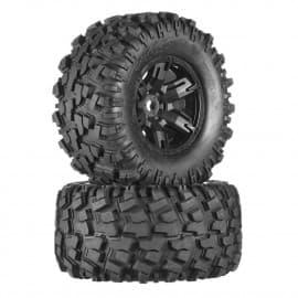Traxxas Tires/Wheels Assembled Glued X-Maxx (2)