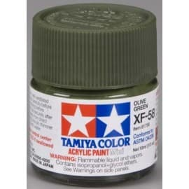Tamiya Acrylic Mini XF-58 Olive Green 1/3 oz