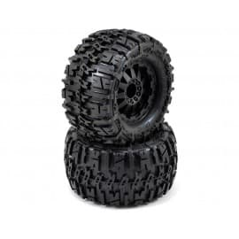 "Pro-Line Trencher 2.8"" All Terrain Tires Mounted on F-11 Black Wheels for Electric off road Stampede/Rustler (2)"