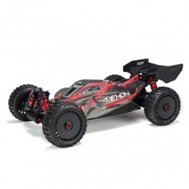 Arrma 1/8 TYPHON 6S BLX 4WD Brushless Buggy with Spektrum RTR, Red/Grey