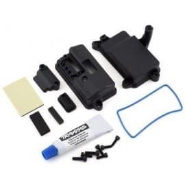 Traxxas Box, receiver (sealed)/ foam pad/ 2.5x8mm CS (4)/ 3x10mm CS (2)
