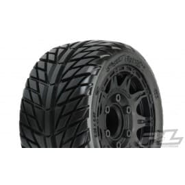 "Pro Line Street Fighter LP 2.8"" Tires w/Raid Rear Wheels (2) (Black) (M2)_x005F_x000D_ w/12mm Removable Hex"
